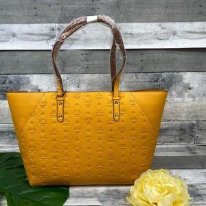 MCM Klara Golden Mango shopper tote bag monogram